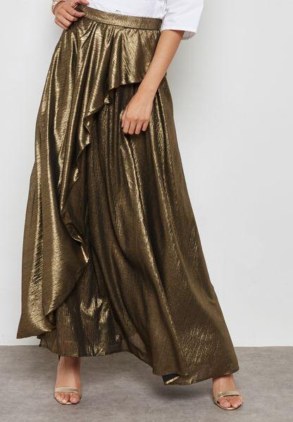 Ruffle Detail Maxi Skirt