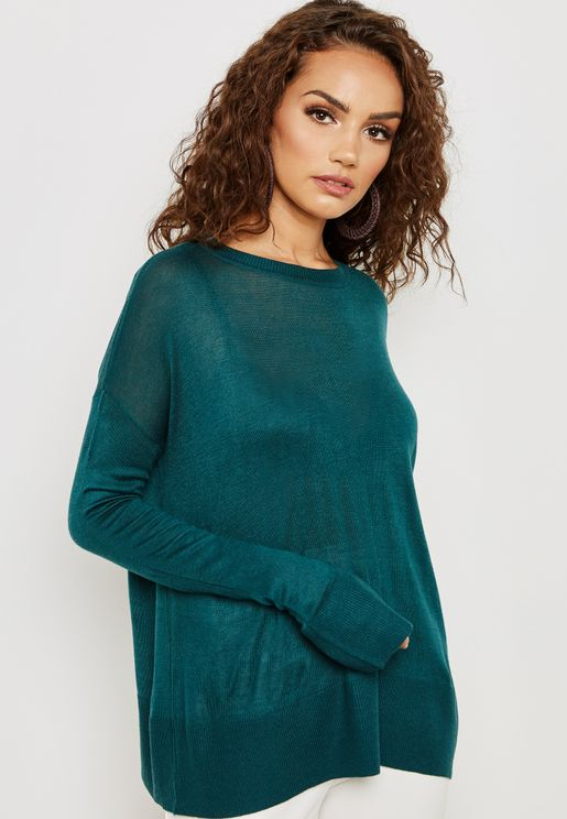 Slit Cuffed Sweater