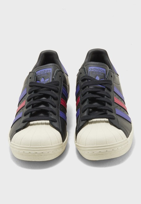 adidas Originals black Superstar 80s