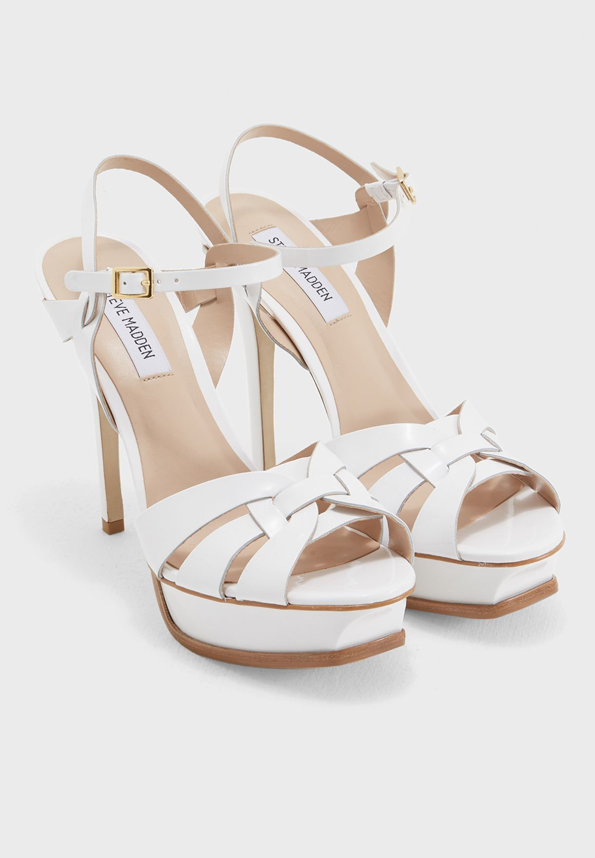 9b0629d44acb Shop Steve Madden white Kananda High-Heel Sandals KANANDA for Women ...