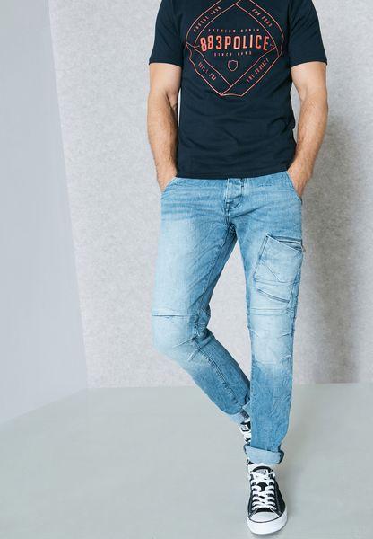 جينز بجيوب كارغو