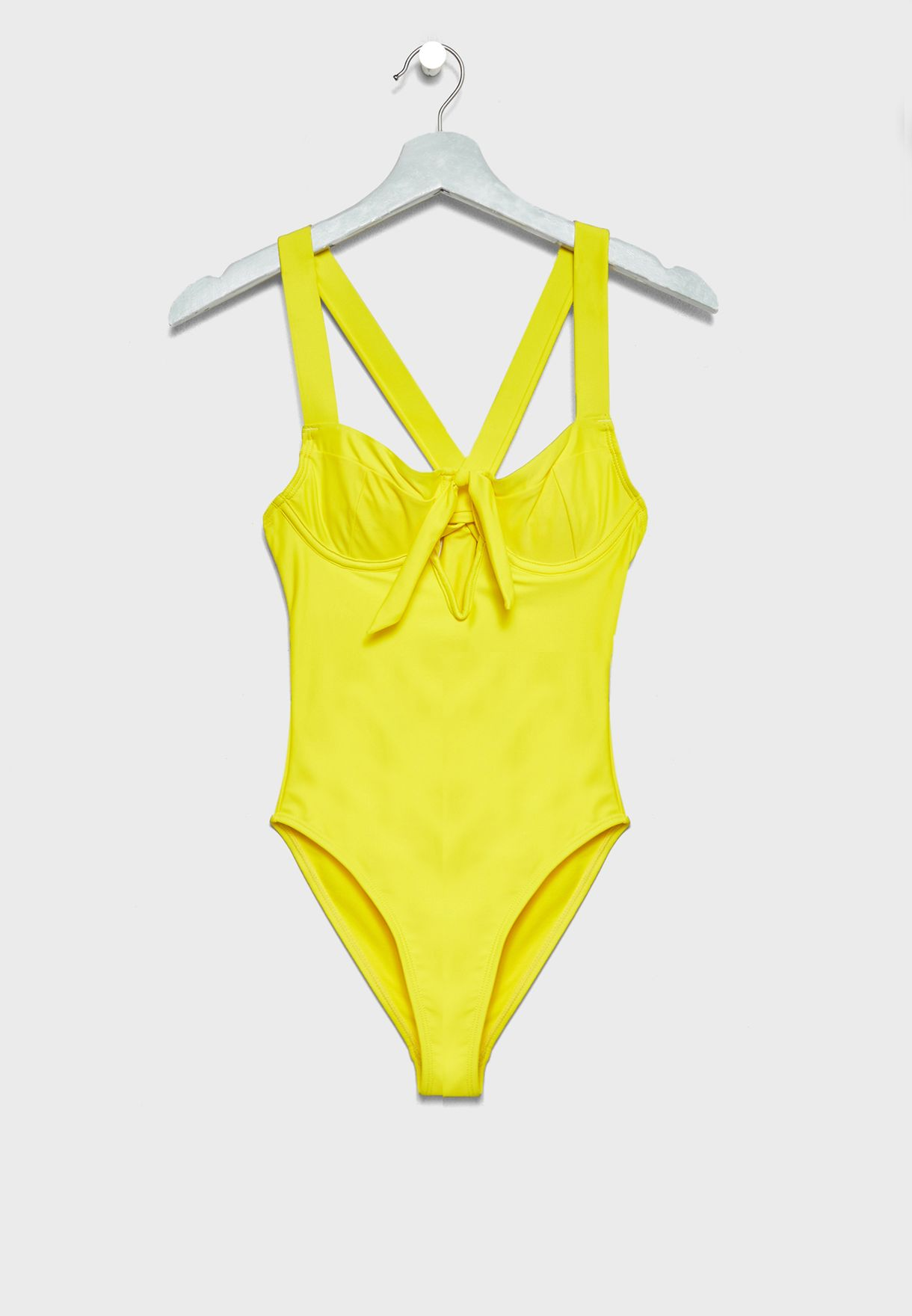 f38fdbc44167e Shop Lost Ink yellow Bow Back Swimsuit 1001123120260052 for Women in Oman -  LO956AT24DYD