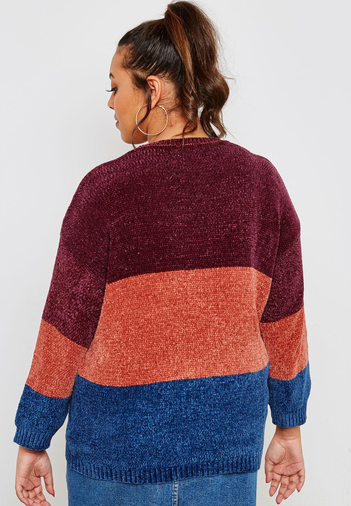 Colourblock Striped Sweater