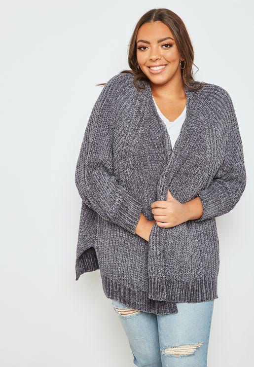 Oversized Chenille Cardigan