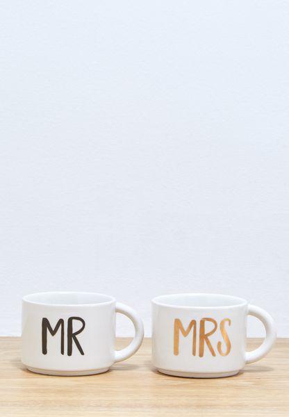 2 Pack Mr & Mrs Stacking Mug