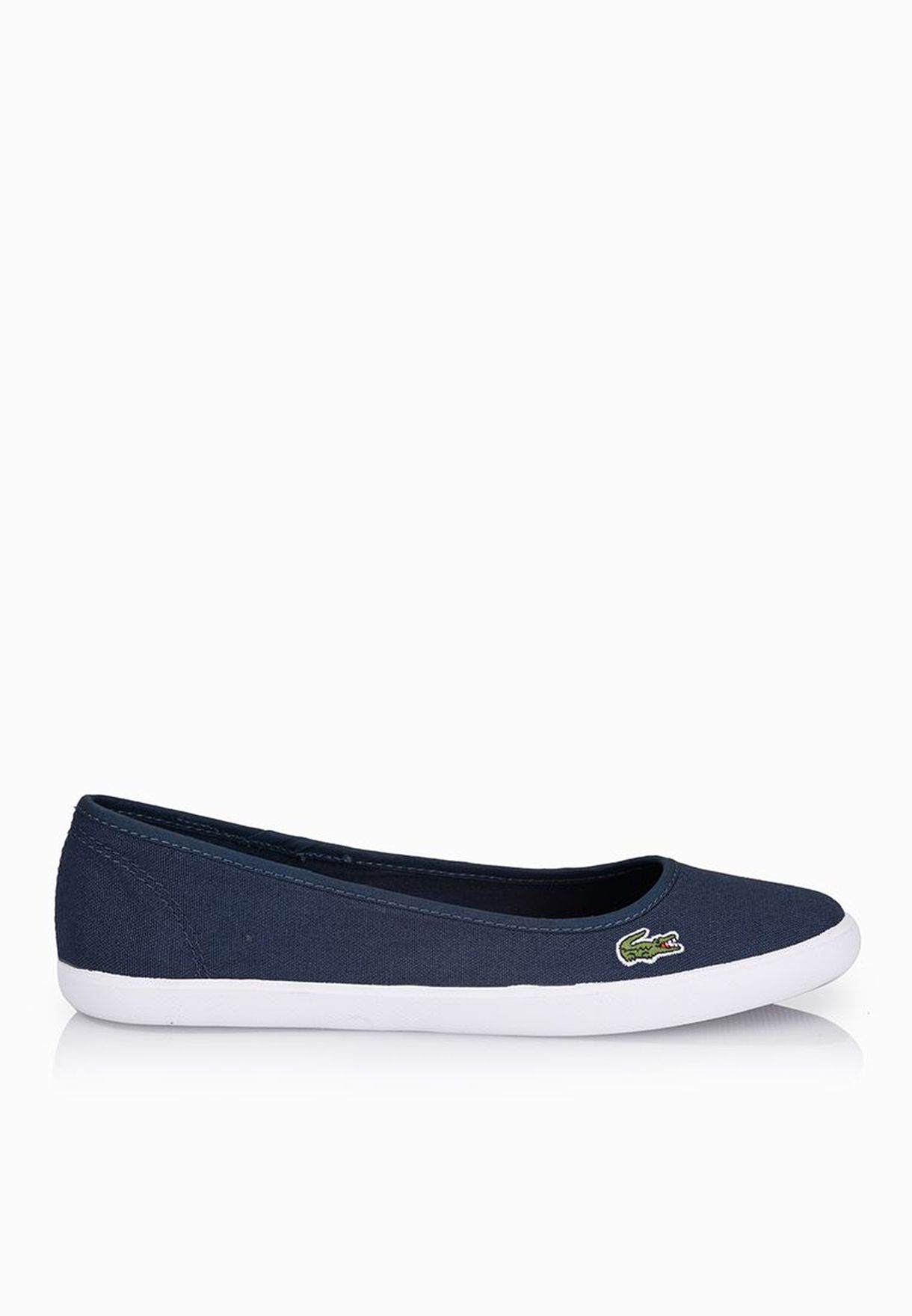 6c86725c1bd7b3 Shop Lacoste navy Marthe LCR Slip Ons 29SPW1035-DB4 for Women in UAE ...