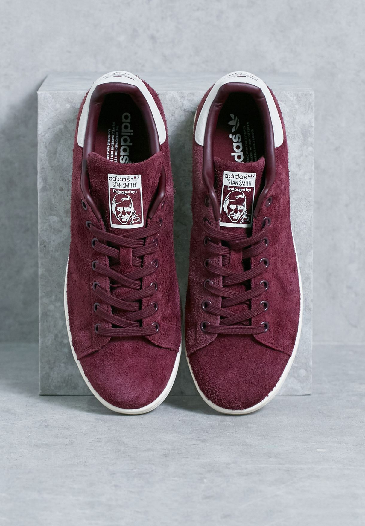 bfb01b2f718 Shop adidas Originals burgundy Stan Smith S82247 for Men in Saudi ...