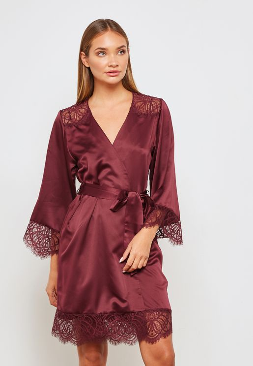 Belted Lace Robe