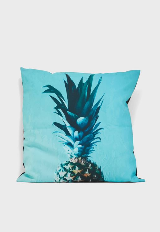 Blue Pineapple Print Cushion Insert Included