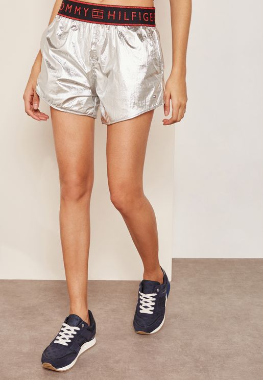 Logo band Shimmer Shorts