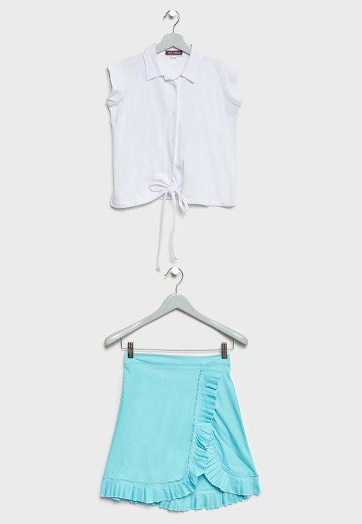 Little Shirt + Skirt Set