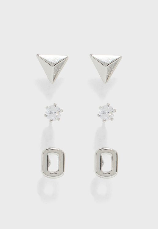 3-Pack Dina Stud Earrings