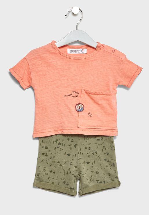Infant Boxy Shape T-Shirt+Shorts