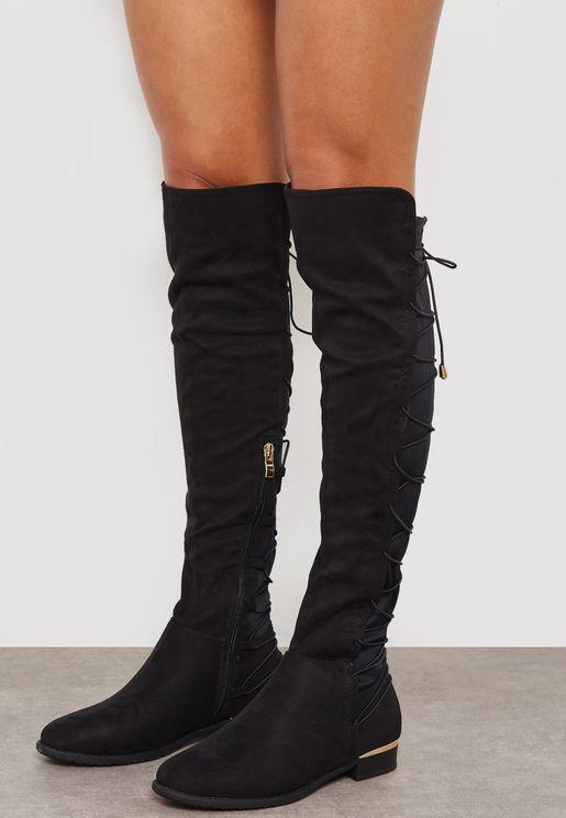 Hat Knee Boot