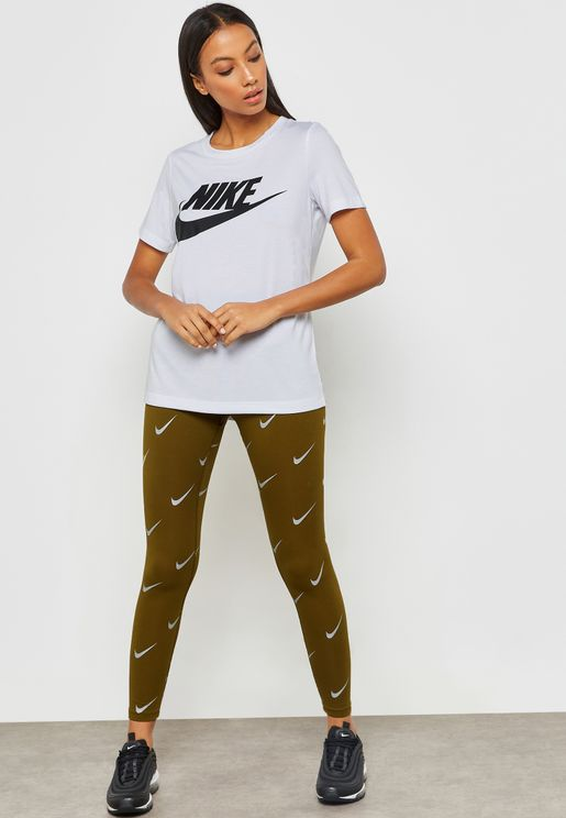 Metallic Leg-A-See High-Waisted Leggings