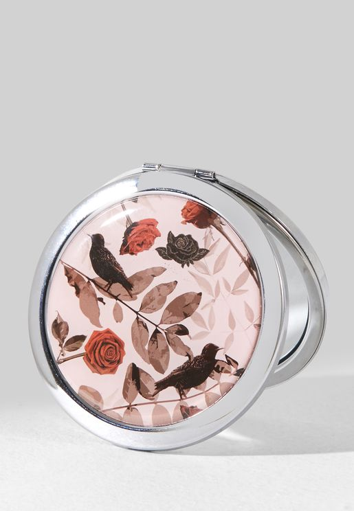 Floral Rose Compact Mirror