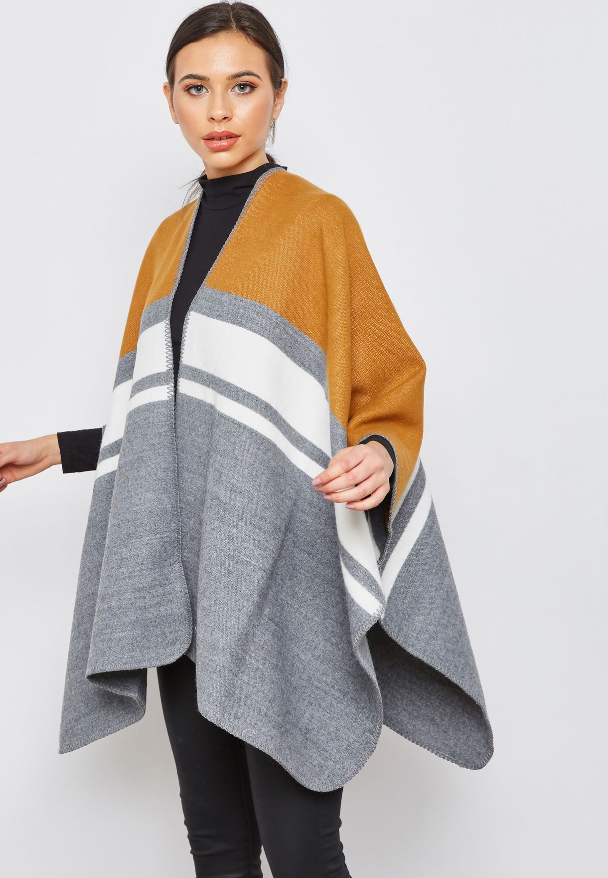 955fe7642ed8d3 Shop B Young multicolor Color Block Cardigan 20804810 for Women in Kuwait -  BY124AT24OHF