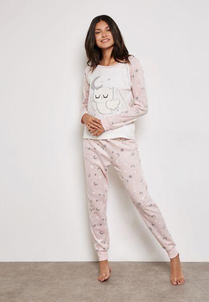 Owl Print Pyjama Set