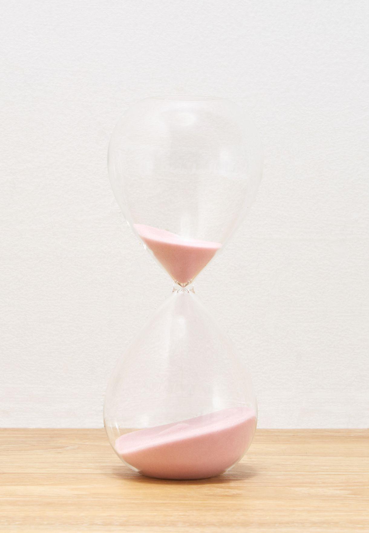 ساعة رملية زجاجية