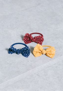 Kids 3 Pack Bow Hairties