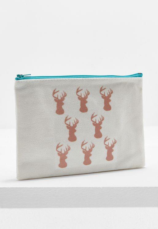 Deer Print Pouch