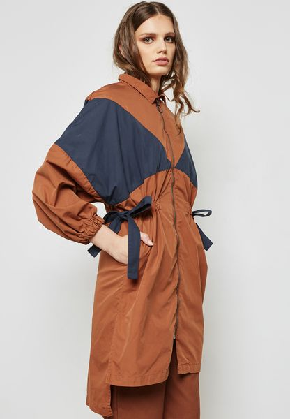 Colourblock Trench Jacket
