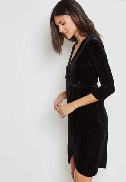 Velvet Wrapped Dress