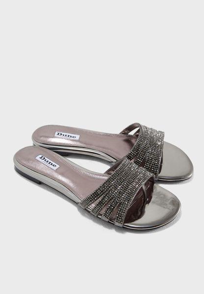 Nikkita Embellished Flat Sandal