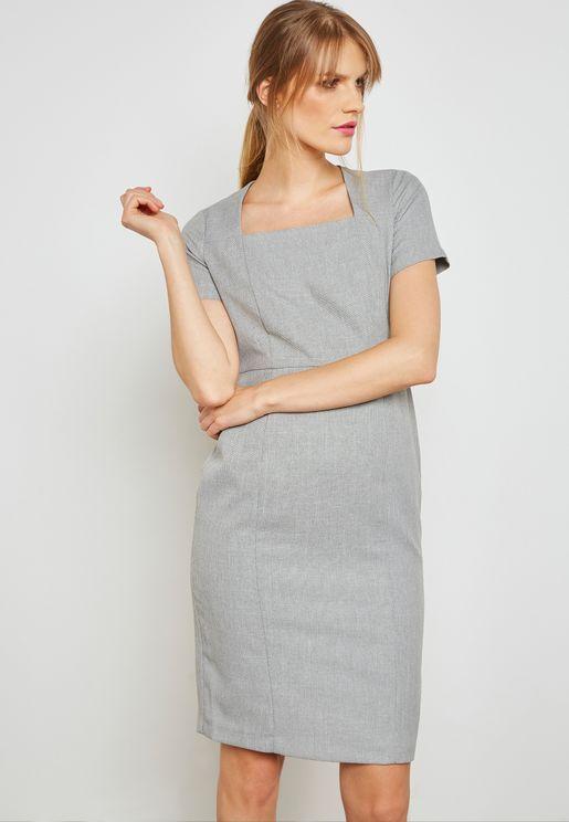 Textured Pencil Dress