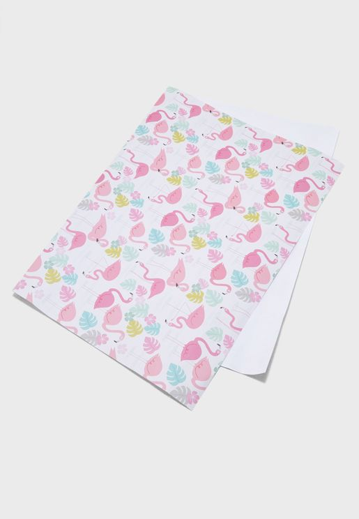 Flamingo Bay Wrapping Paper