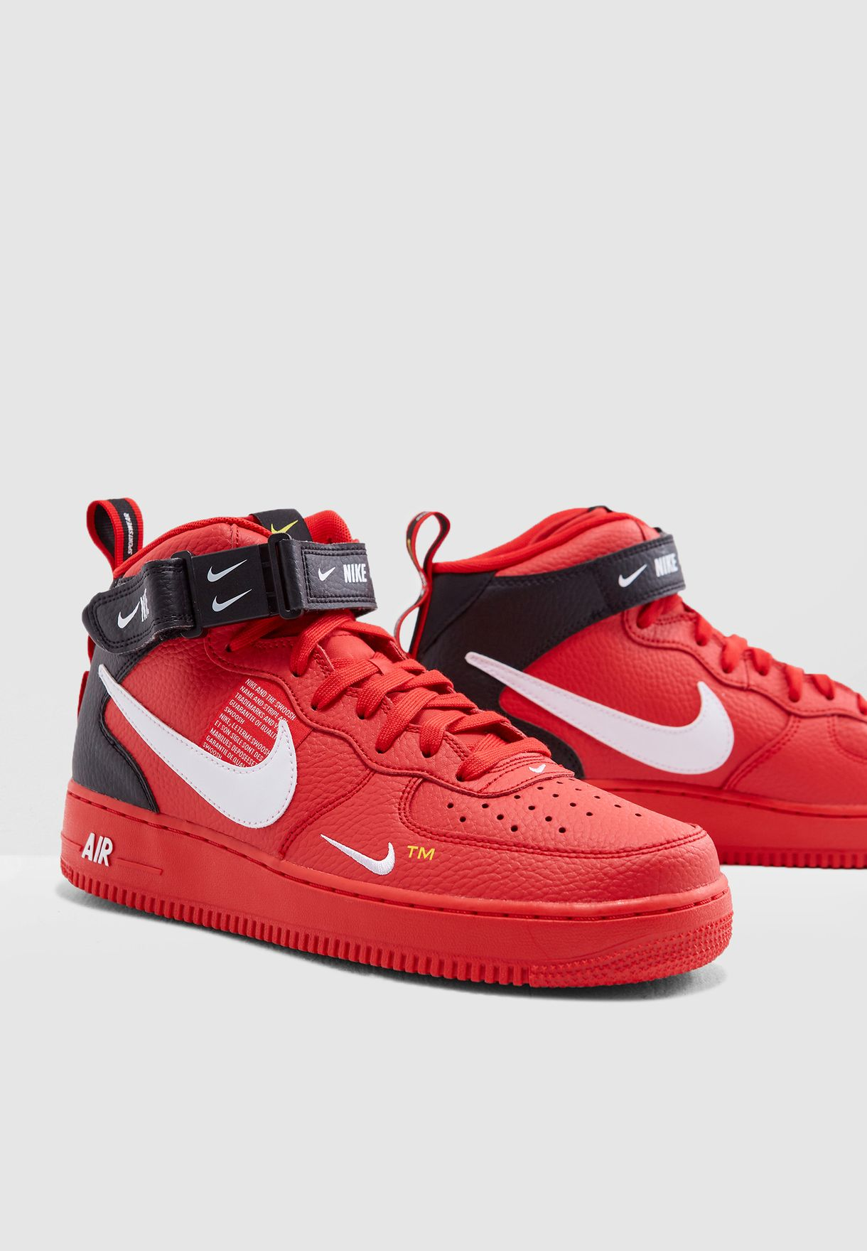 eb93289767a4 Shop Nike red Air Force 1 Mid   39 07 LV8 804609-605 for Men in ...
