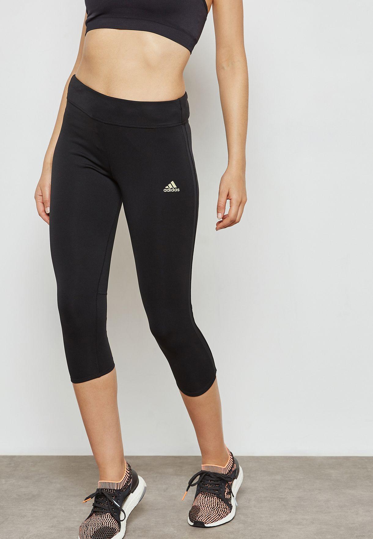 57002347c26 Shop adidas black Response 3/4 Leggings CF6221 for Women in UAE -  AD476AT24NBR