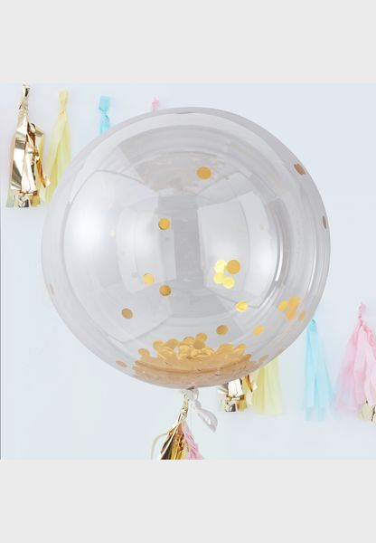 Large Orb Confetti Balloon