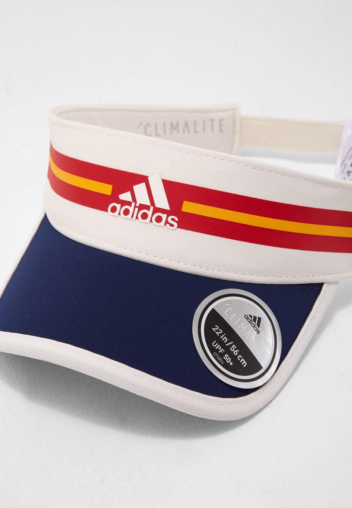 6264f4affe6 Shop adidas multicolor Pharrell NYC Climalite Visor Cap CD2123 for ...