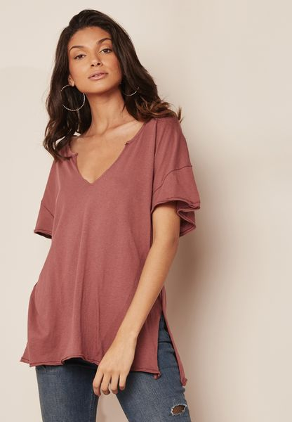 Raw Hem Oversized T-Shirt