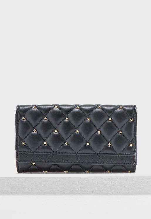Quilted Stud Purse