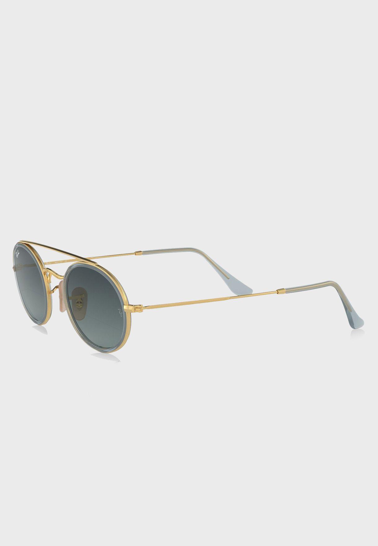 6dcb6956672 Shop Ray-Ban gold 0RB3847N Double Bridge Sunglasses 8.05367E+12 for ...