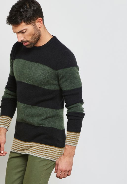 Cabe Knitted Crew Neck Sweater
