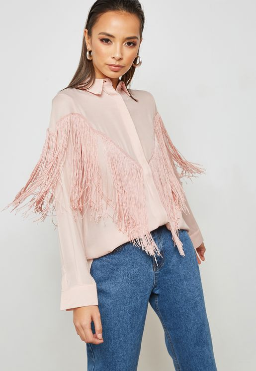 Fringed Paneled Shirt