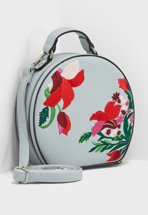 Dirore Floral Handle Clutch