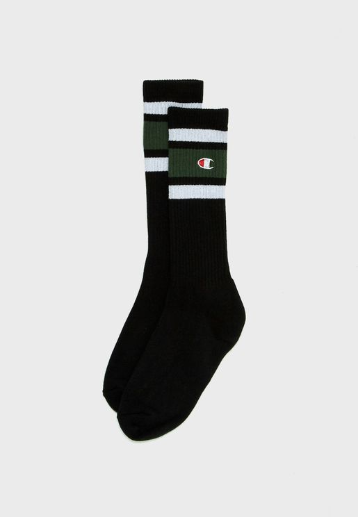 Ribbed Logo Socks