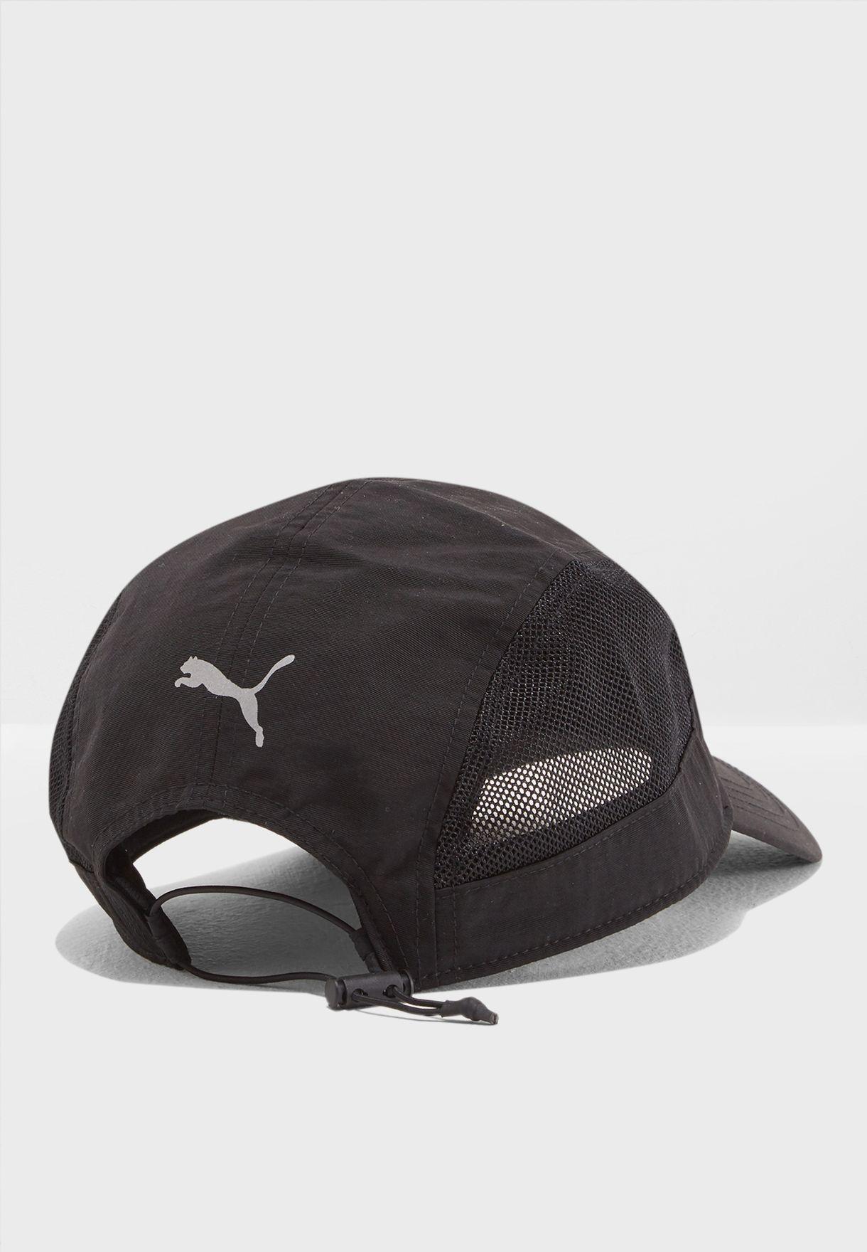 d407badc16dfd Shop PUMA black Pace Panel Cap 02148701 for Men in UAE - PU020AC24JOH