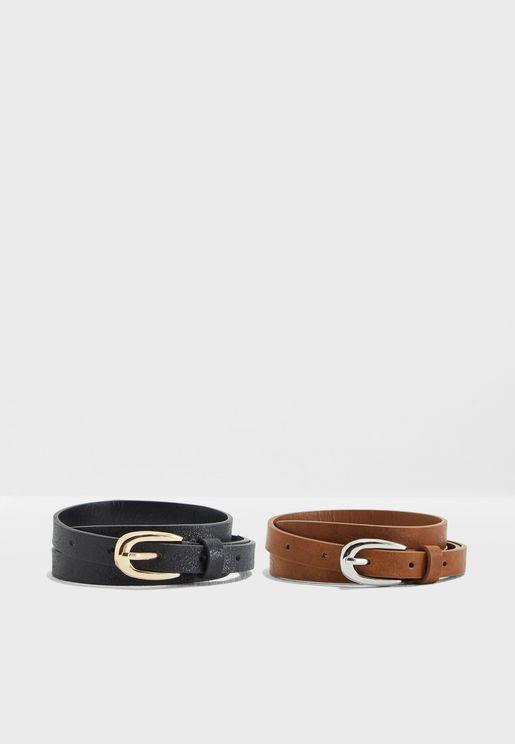 Skinny Belt Set