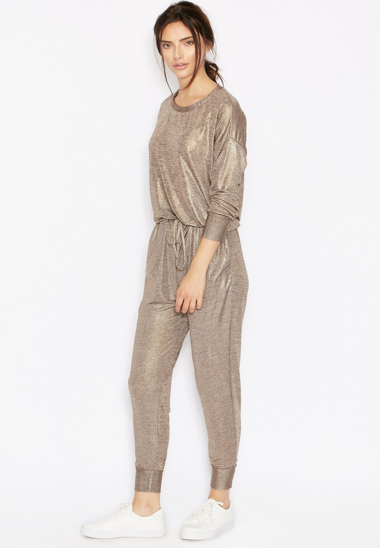 642734e196b8 Shop Never Fully Dressed browns Shimmer Tracksuit Jumpsuit for Women ...