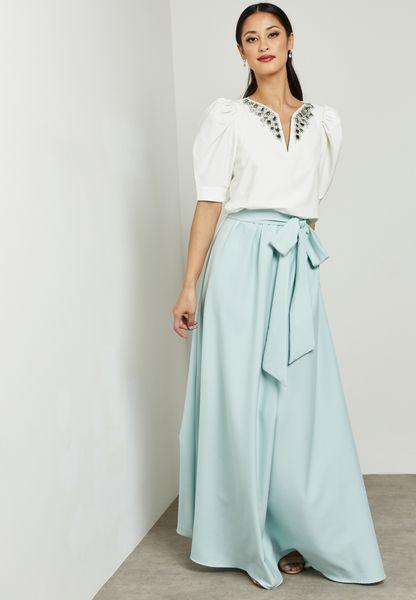 Colourblock Detail Self Tie Dress