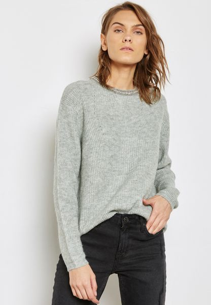 Pearl Neck Sweater