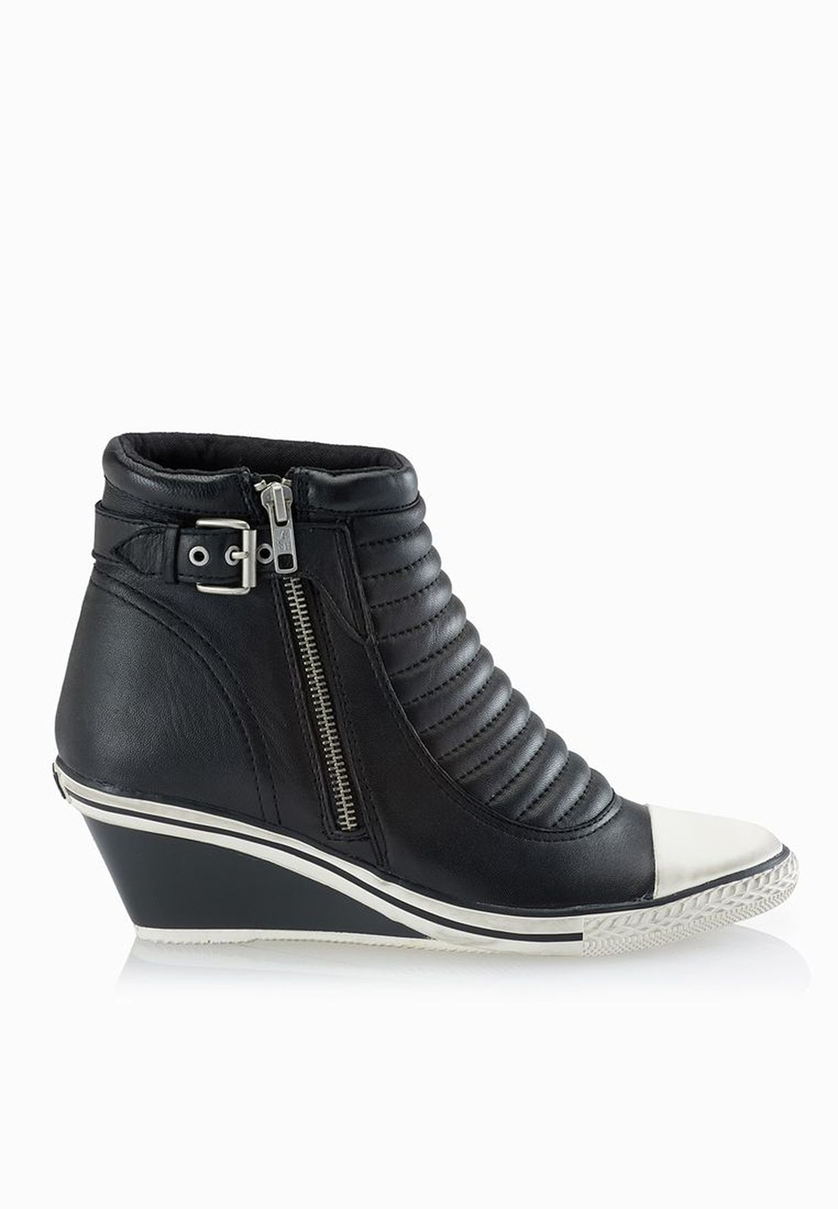Shop Ash black Genius Wedge Sneakers for Women in UAE - AS742SH14QMZ