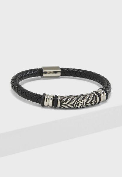 Braided Push Lock Bracelet