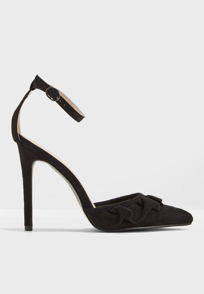 Habit Frill Detail Pointed Toe Heel