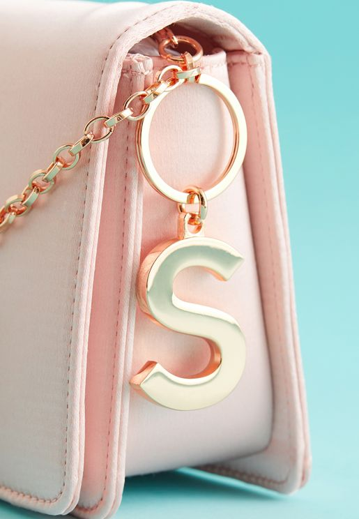 S Initial Luxe Keyring
